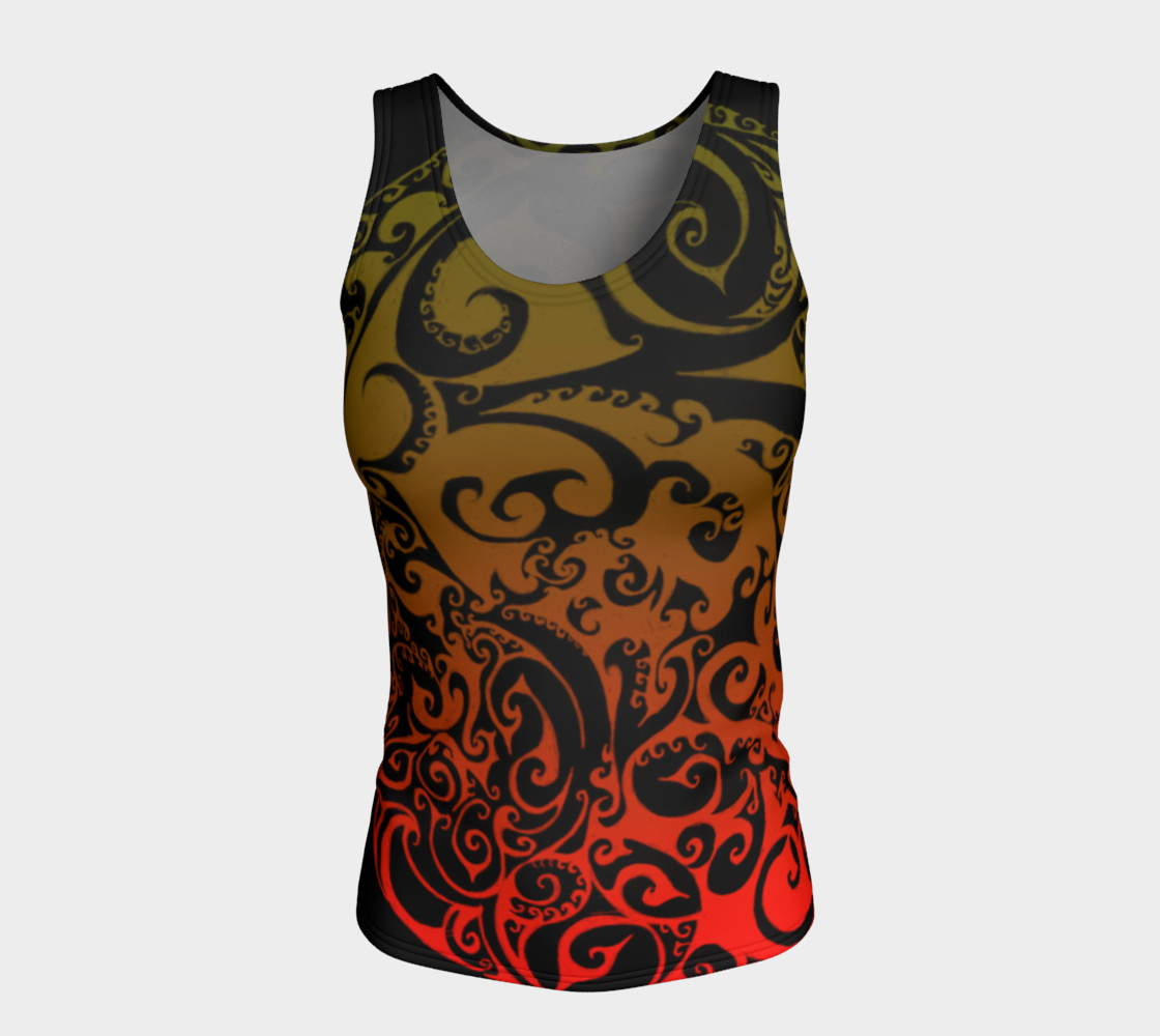 Autumnal Ombre Celtic Spiral Tank Top preview #5