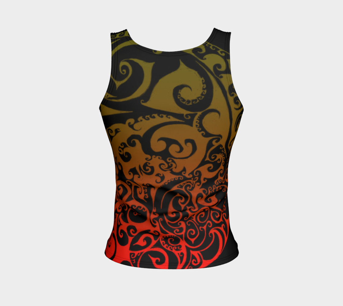 Autumnal Ombre Celtic Spiral Tank Top preview #2