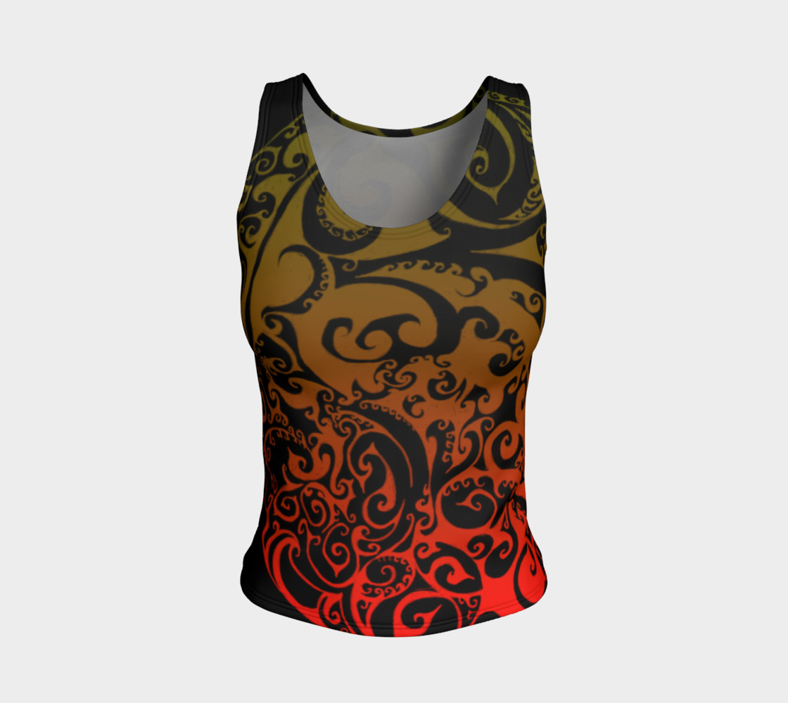 Autumnal Ombre Celtic Spiral Tank Top preview #1