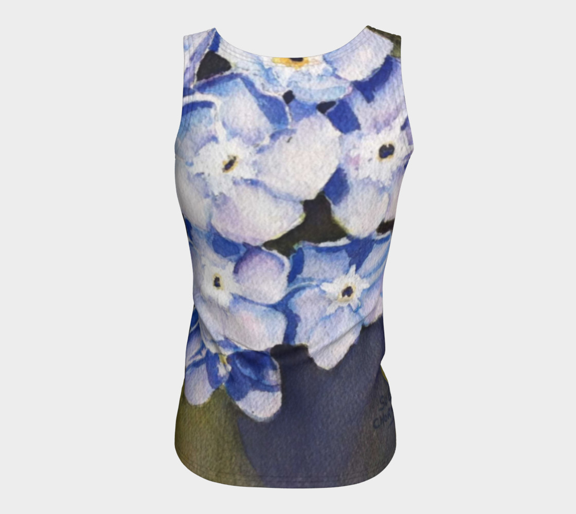 Forget-me-not Flowers Tank Top preview #6