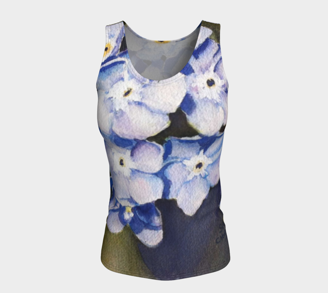 Forget-me-not Flowers Tank Top preview #5
