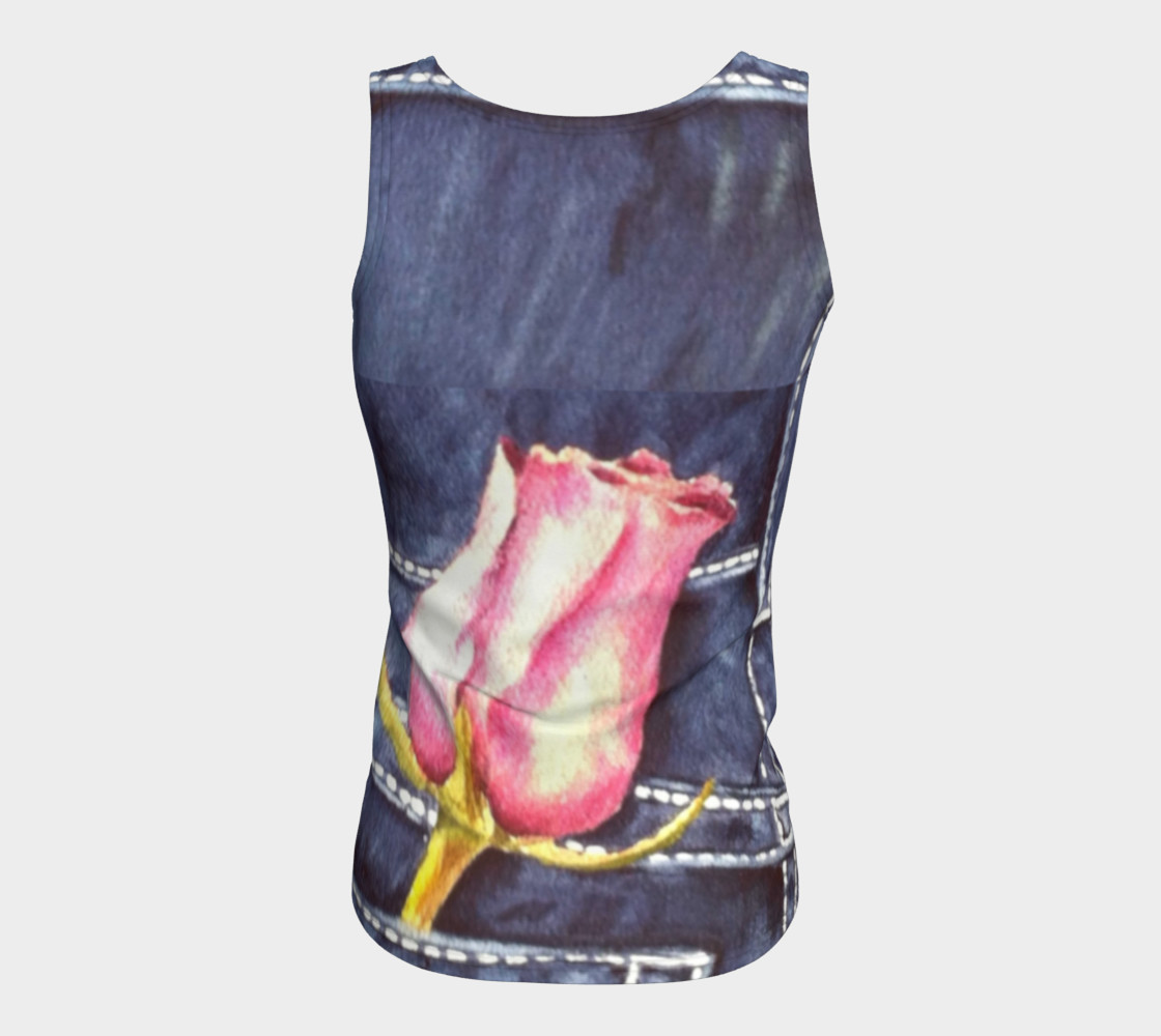 Pink Rose Bud Tank Top preview #6