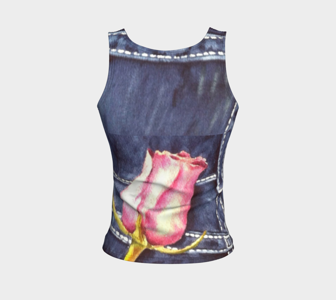 Pink Rose Bud Tank Top preview #2