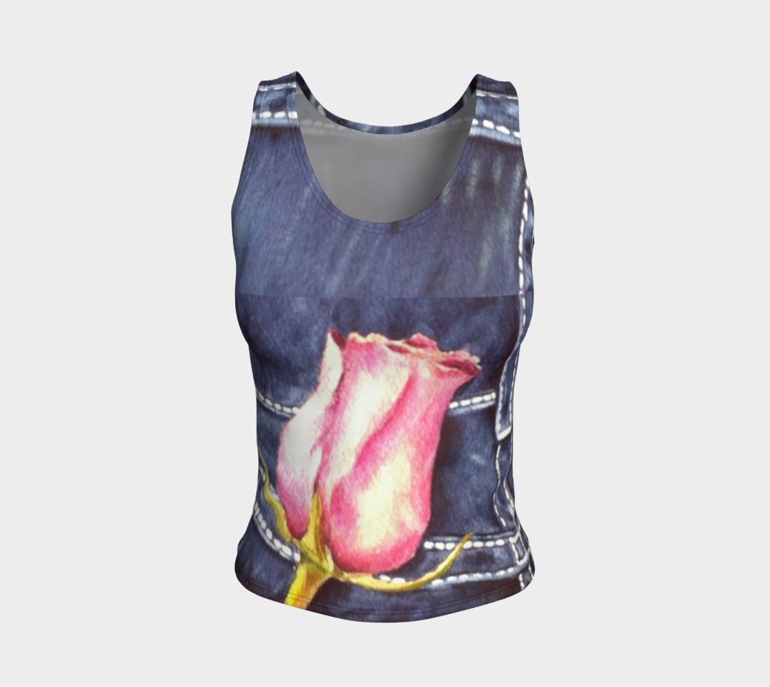 Pink Rose Bud Tank Top preview #1