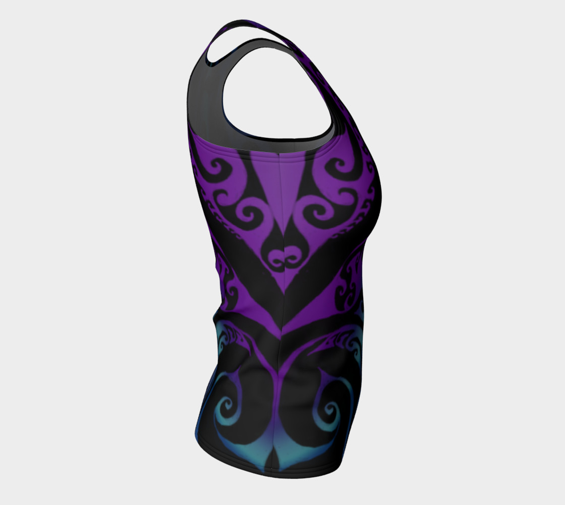 Aperçu de Ice Valkyrie Celtic Spiral Purple Blue Ombre Tank Top #8