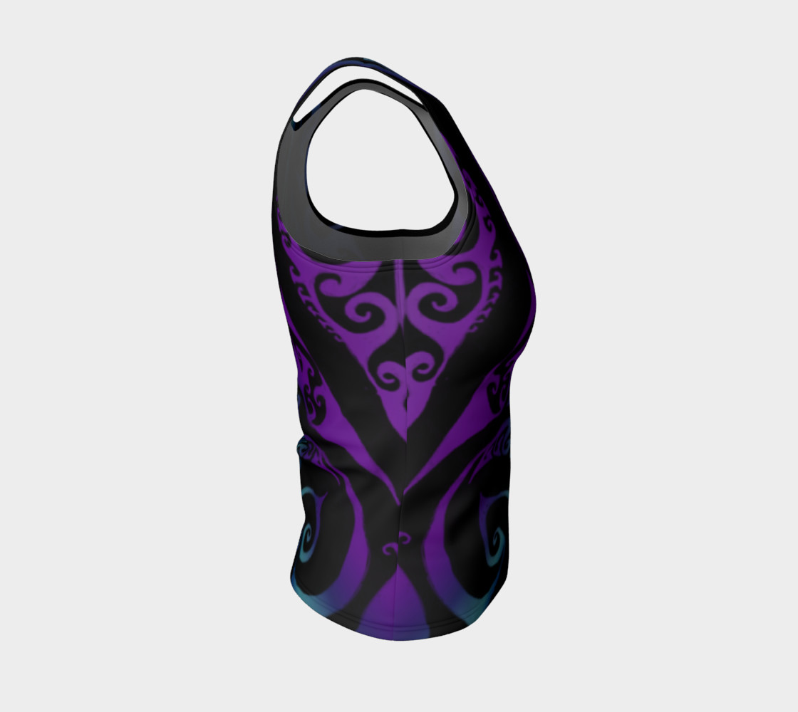 Aperçu de Ice Valkyrie Celtic Spiral Purple Blue Ombre Tank Top #4