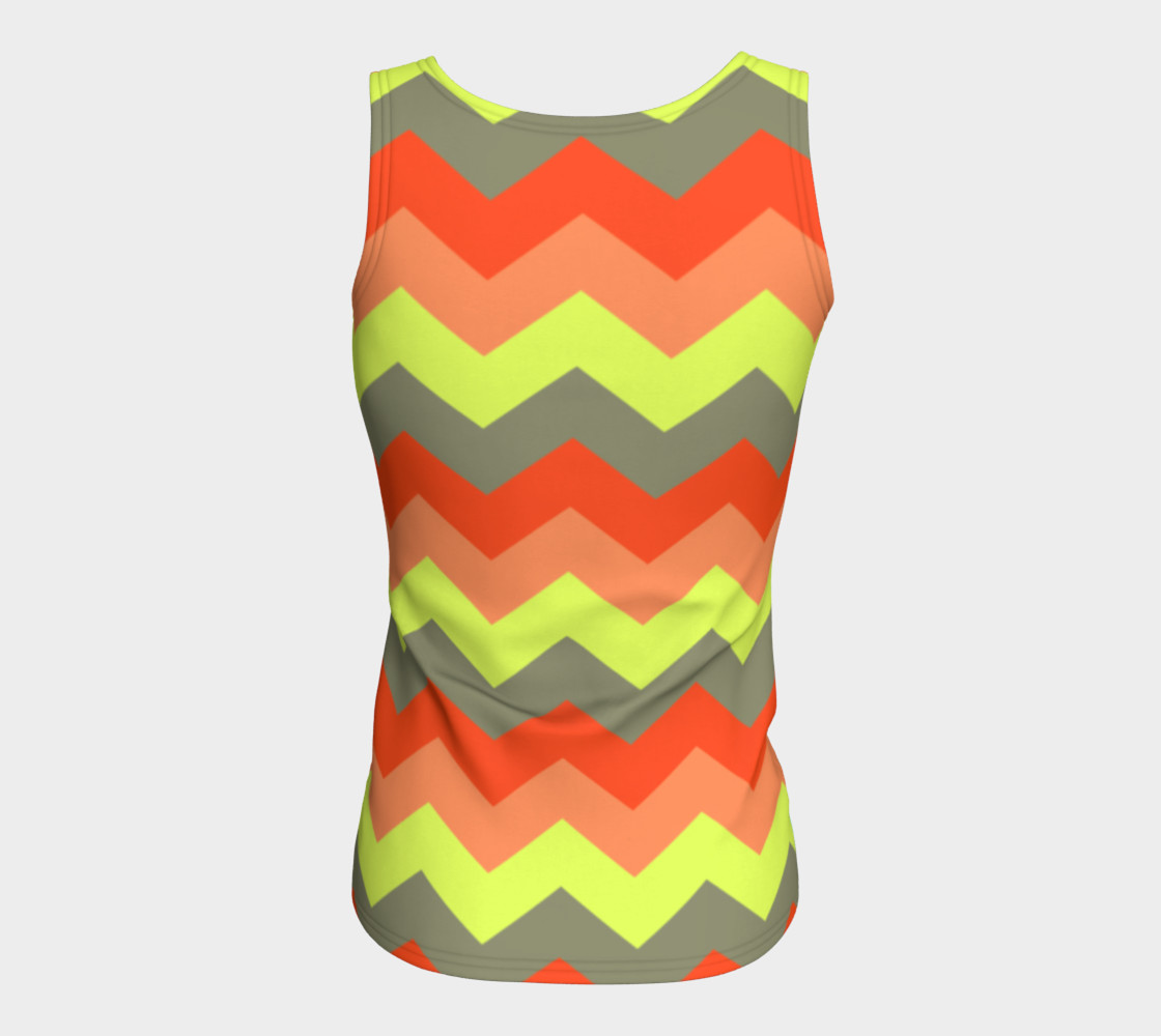 Zigzag Fitted Tank Top preview #6