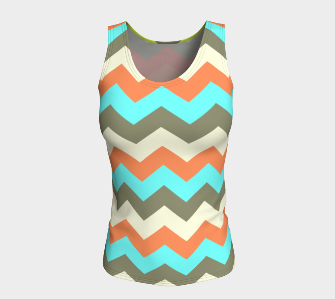 Zigzag Fitted Tank Top preview #5