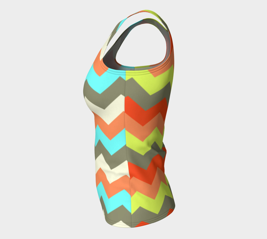 Zigzag Fitted Tank Top preview #7