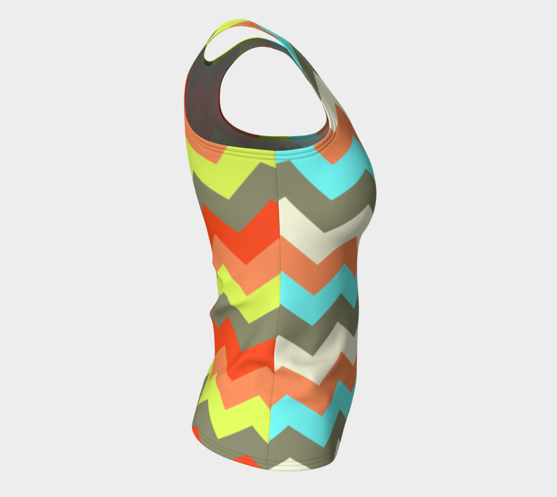 Zigzag Fitted Tank Top preview #8