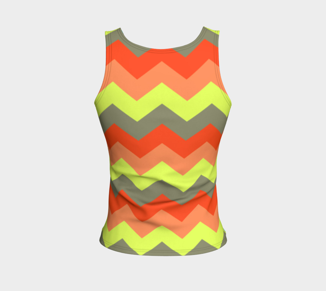 Zigzag Fitted Tank Top preview #2