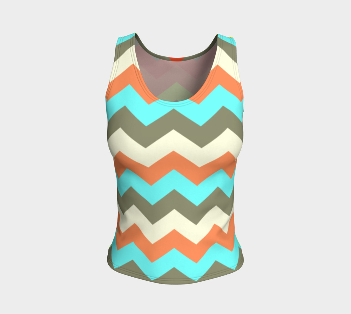 Zigzag Fitted Tank Top preview #1