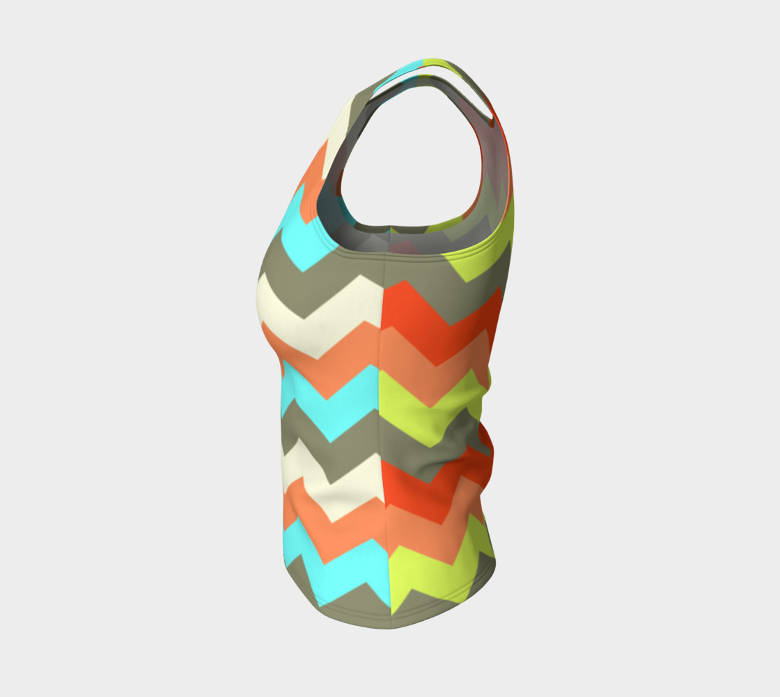 Zigzag Fitted Tank Top preview #3