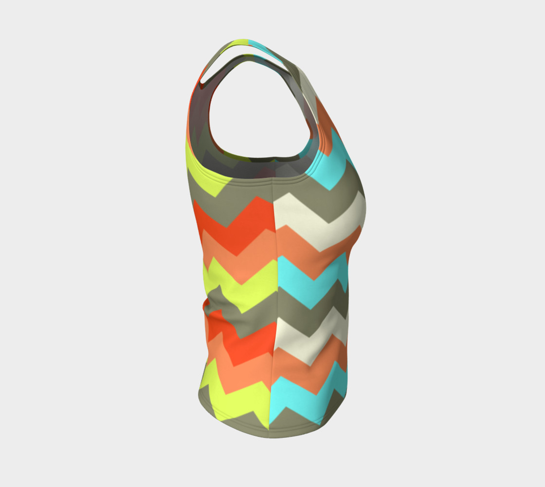 Zigzag Fitted Tank Top preview #4