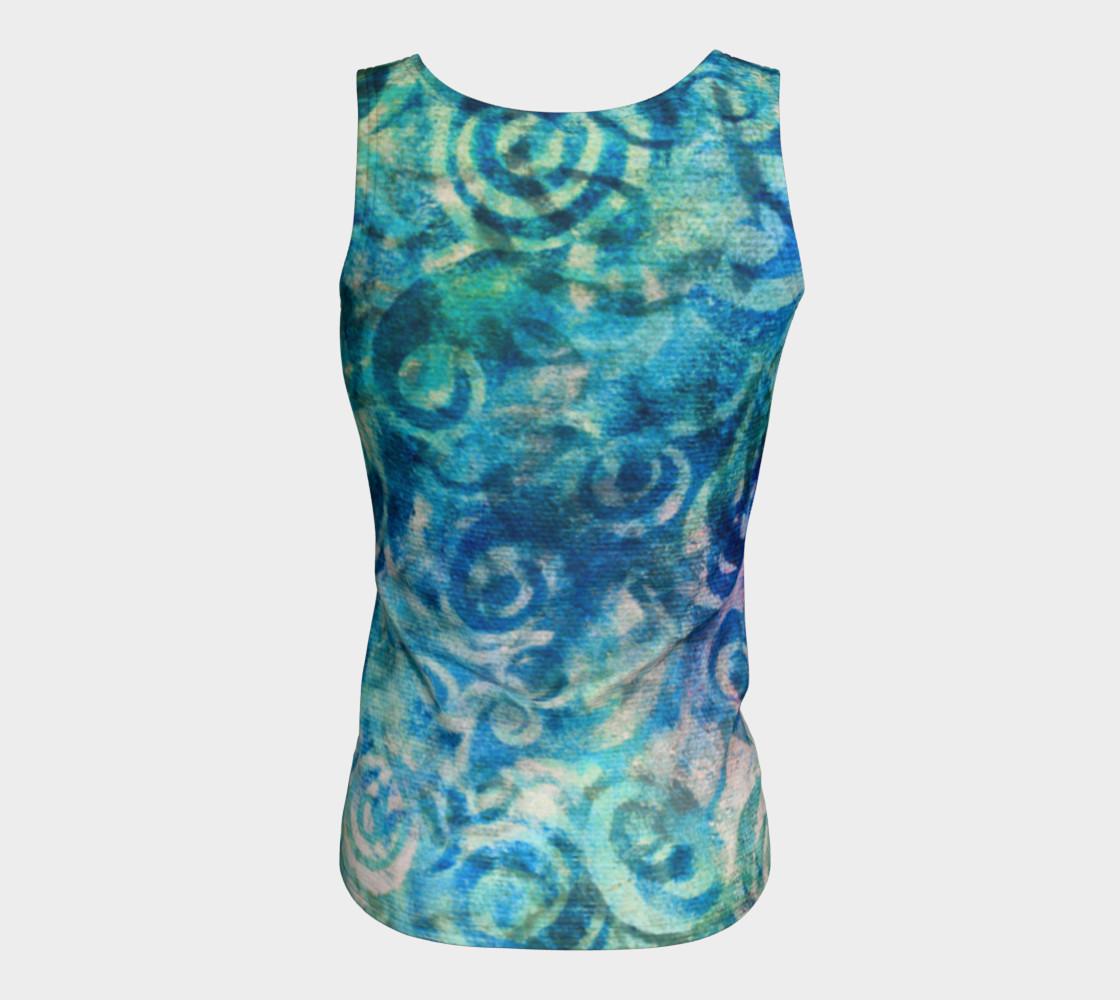 Blue Swirl Tank preview #6