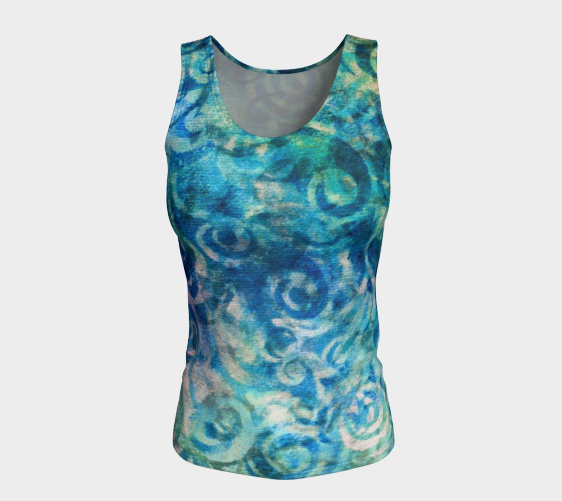 Blue Swirl Tank preview #5