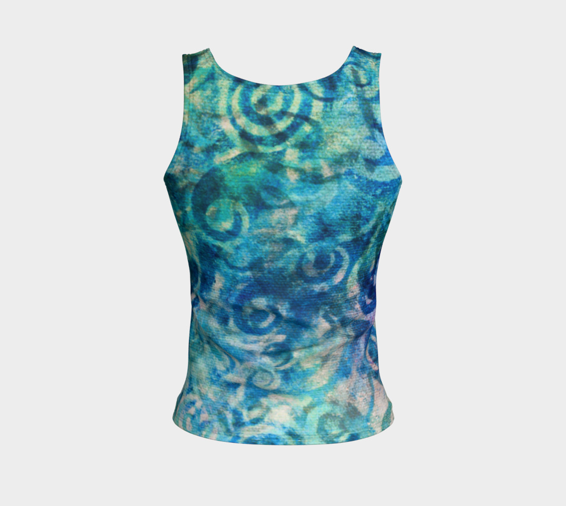 Blue Swirl Tank preview #2