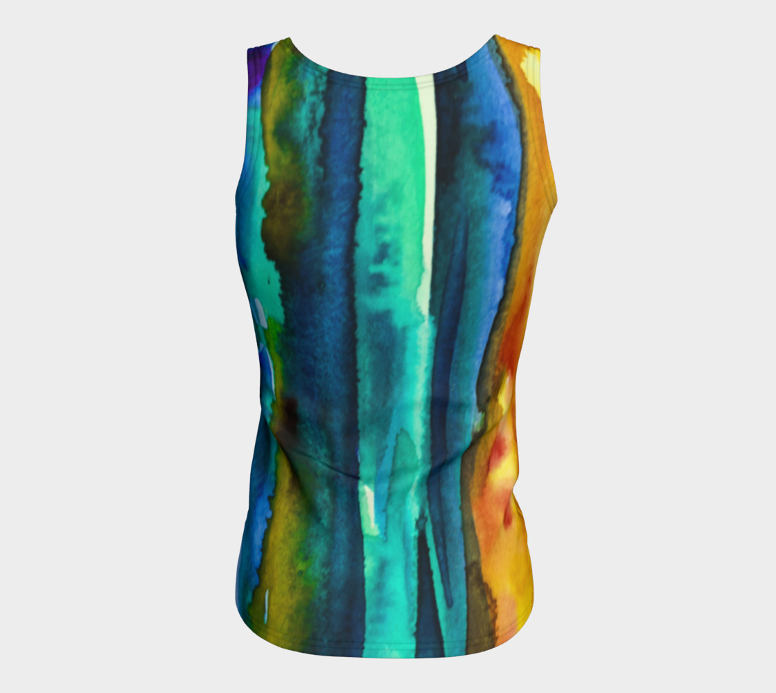 Watercolor Fashion Tank preview #6