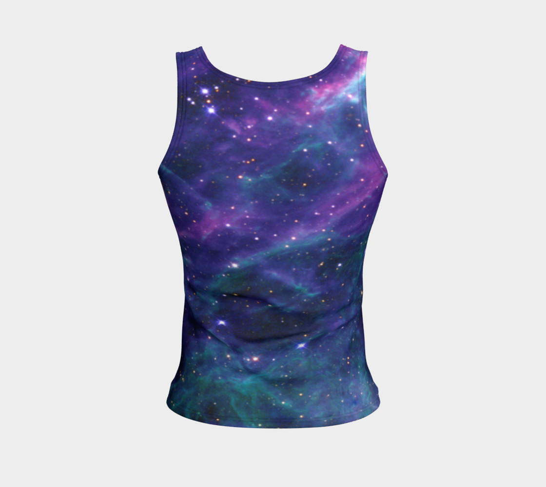 Stars in the Tarantula Nebula Enhanced Blue Fitted Tank Top preview #2