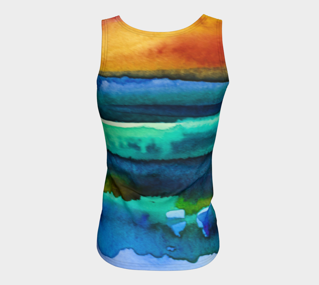 Watercolor Sunrise Tank preview #6