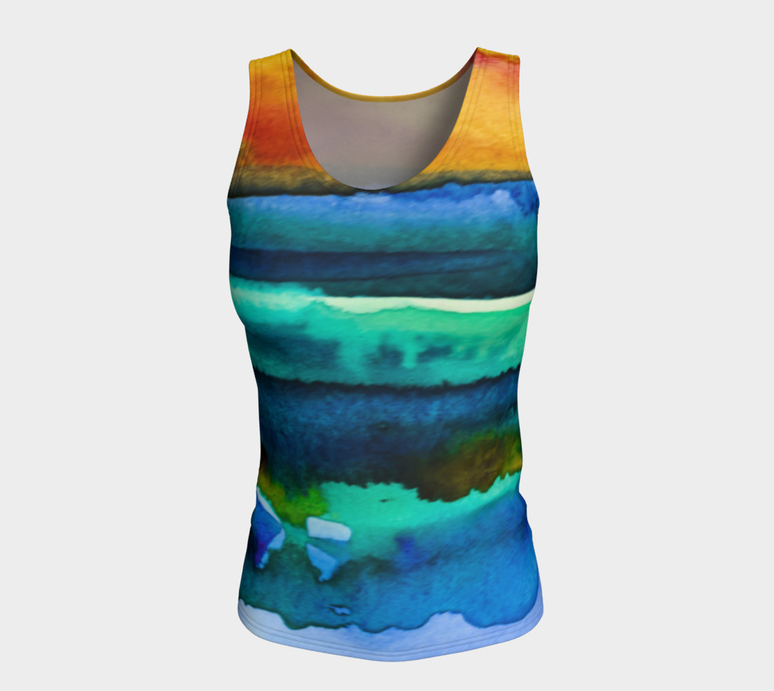 Watercolor Sunrise Tank preview #5