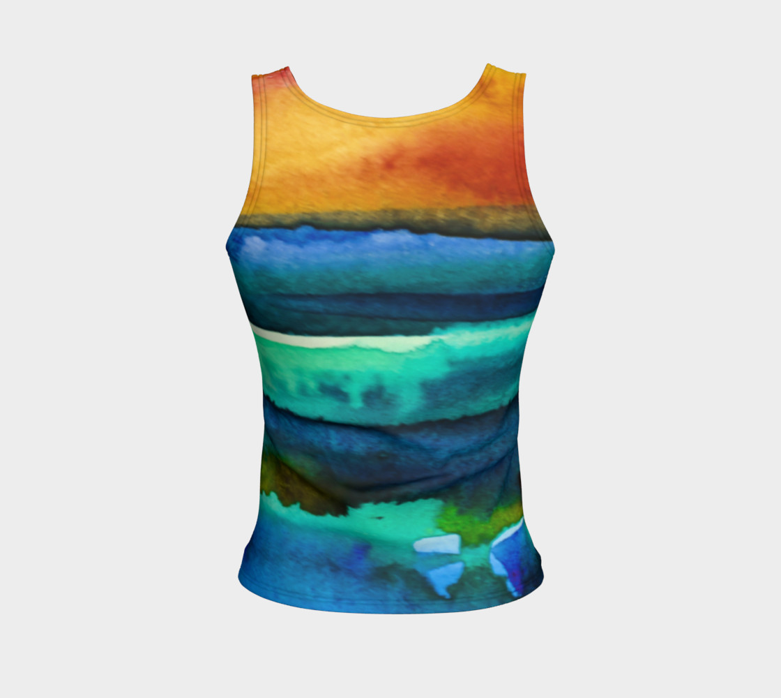 Watercolor Sunrise Tank preview #2