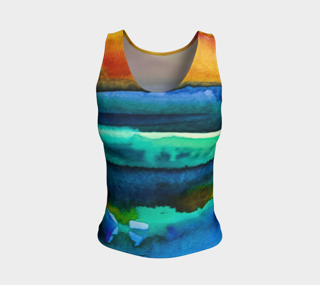 Watercolor Sunrise Tank preview #1