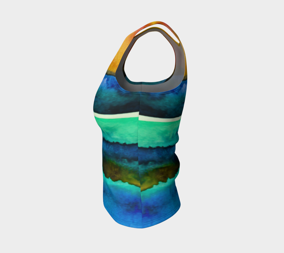 Watercolor Sunrise Tank preview #3
