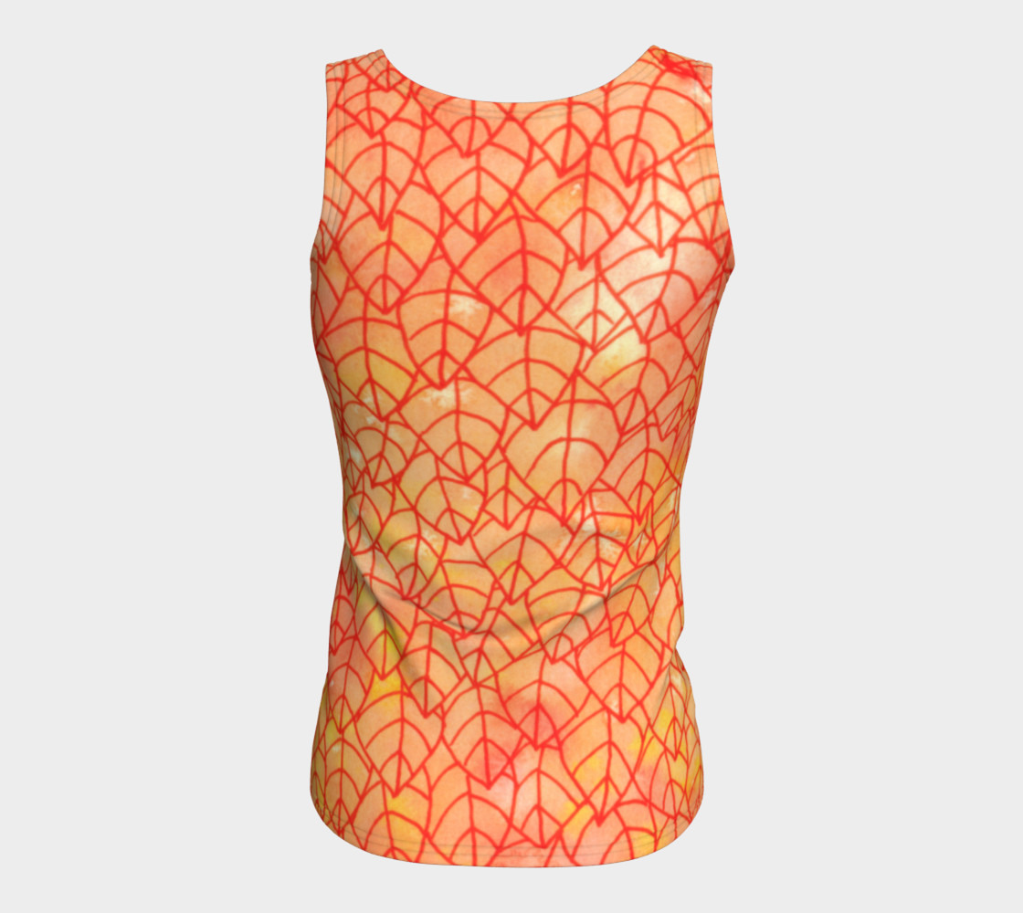 Autumn foliage Fitted Tank Top preview #6