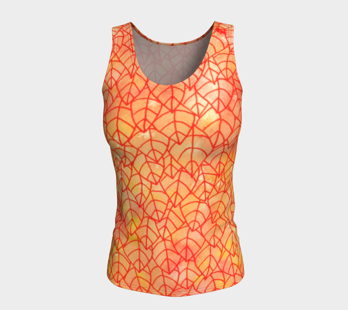 Autumn foliage Fitted Tank Top preview #5