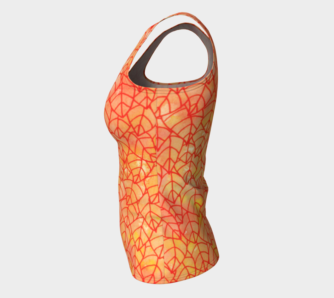 Autumn foliage Fitted Tank Top preview #7