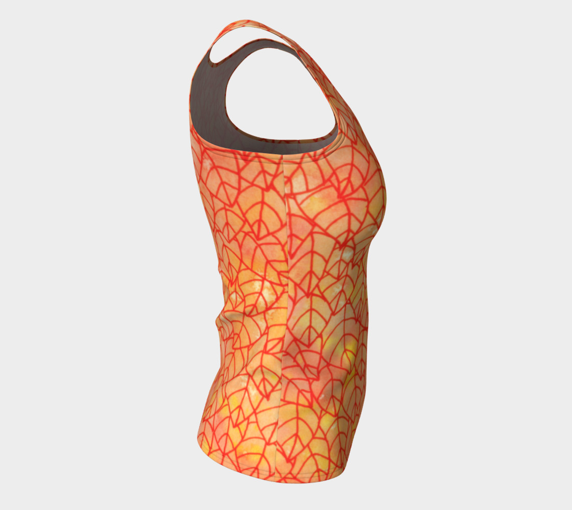 Autumn foliage Fitted Tank Top preview #8