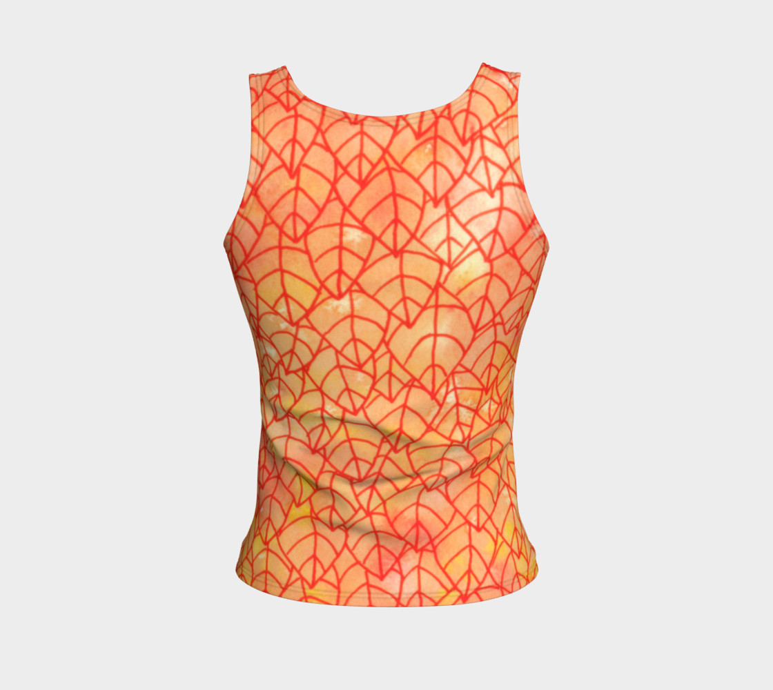 Autumn foliage Fitted Tank Top preview #2