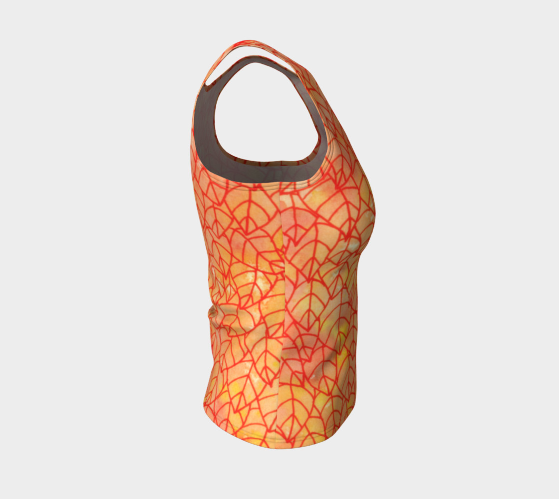 Autumn foliage Fitted Tank Top preview #4