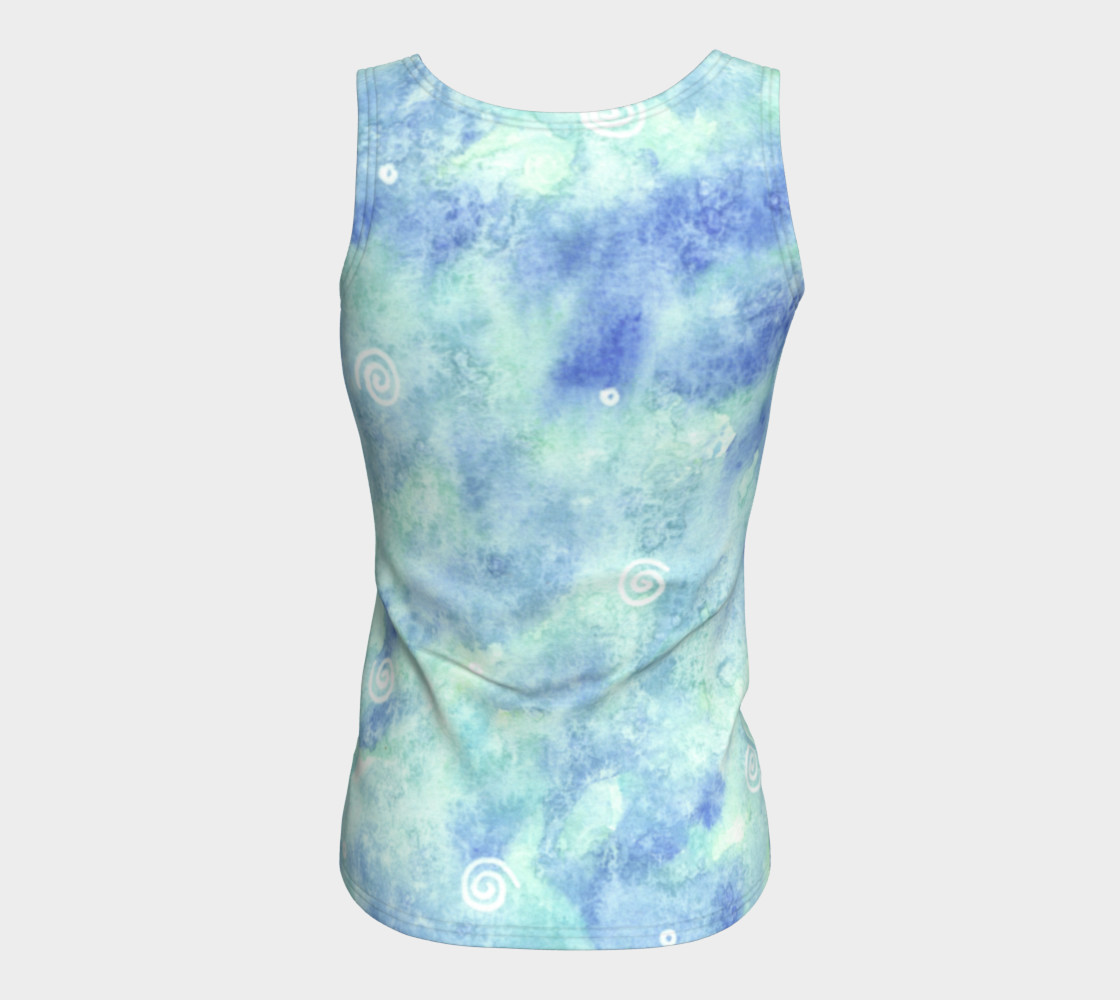 Blue lagoon Fitted Tank Top preview #6