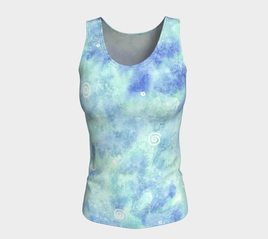 Blue lagoon Fitted Tank Top preview #5