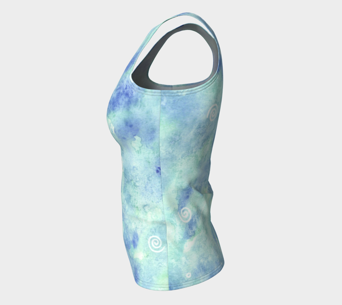 Blue lagoon Fitted Tank Top preview #7