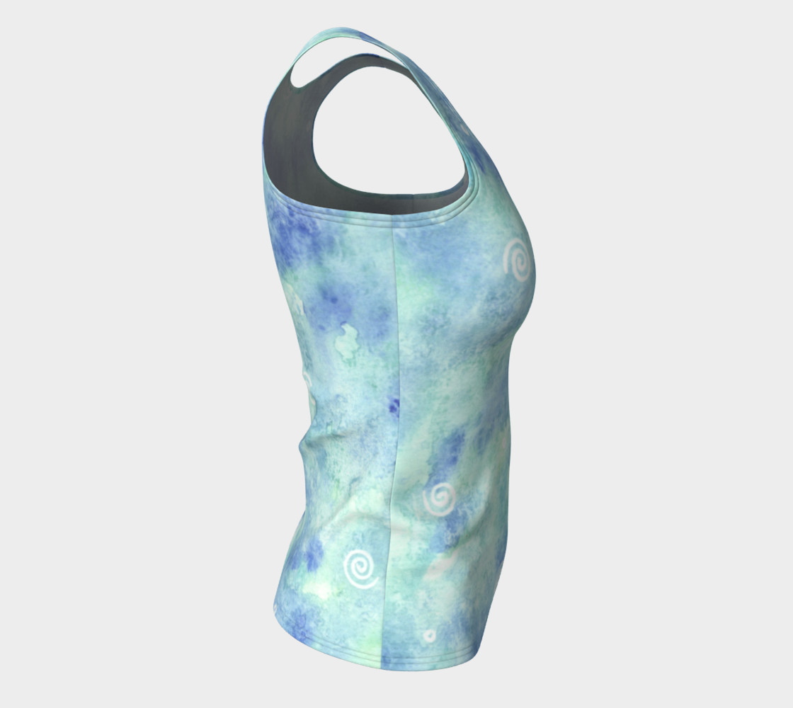 Blue lagoon Fitted Tank Top preview #8