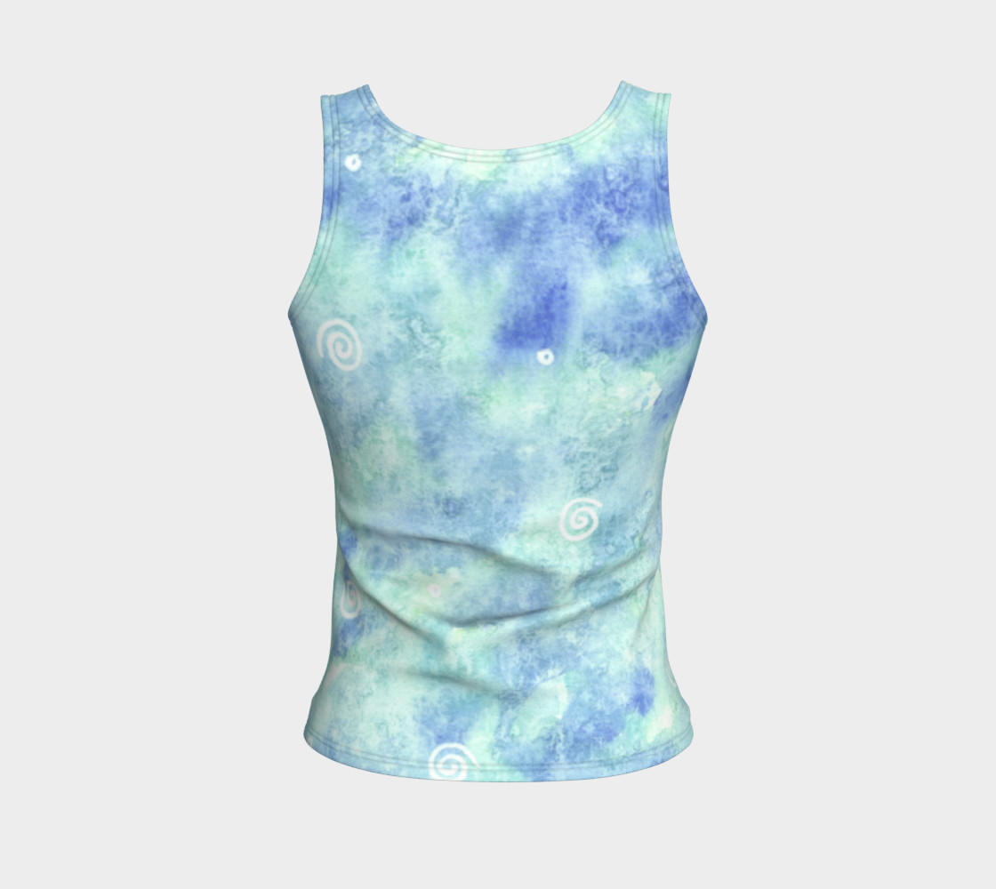 Blue lagoon Fitted Tank Top preview #2