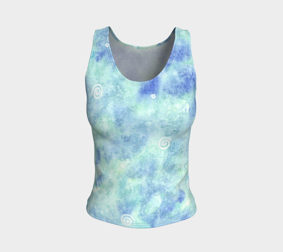 Blue lagoon Fitted Tank Top preview #1