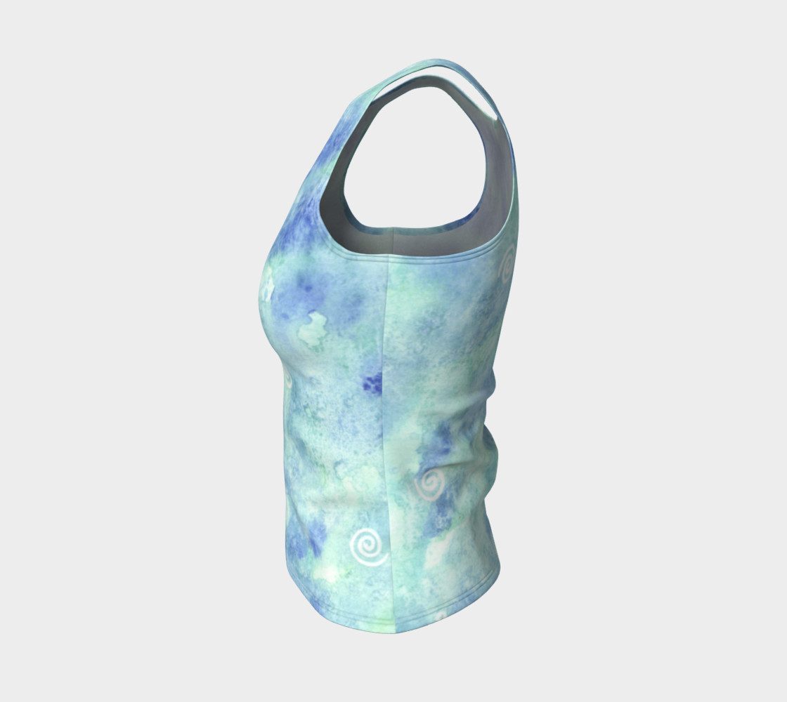 Blue lagoon Fitted Tank Top preview #3