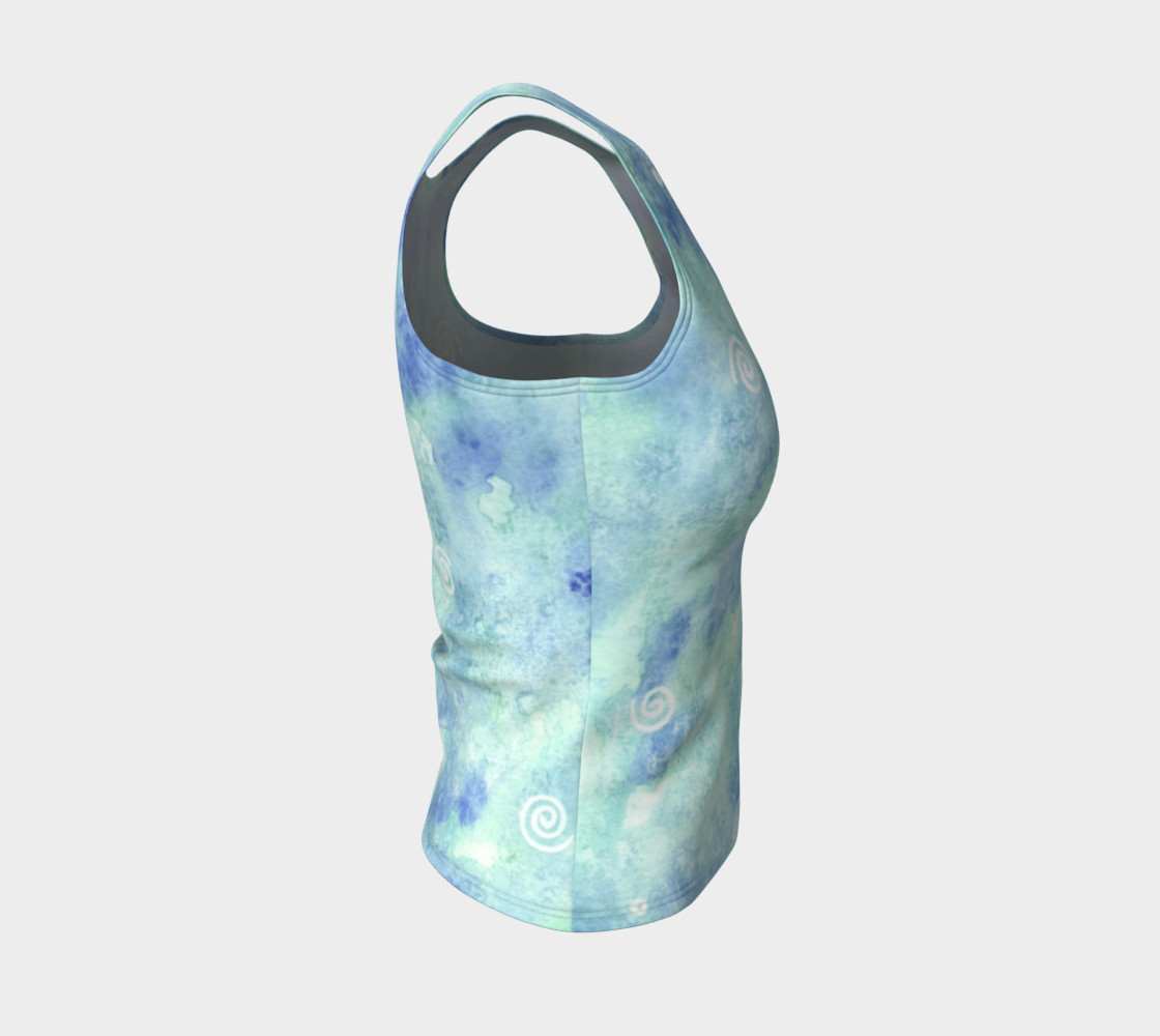 Blue lagoon Fitted Tank Top preview #4
