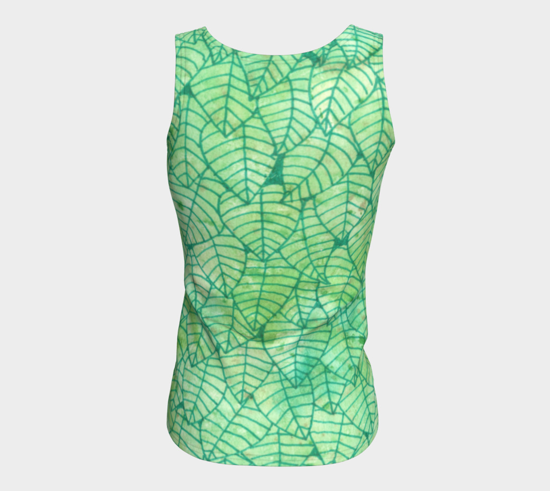 Green foliage Fitted Tank Top preview #6