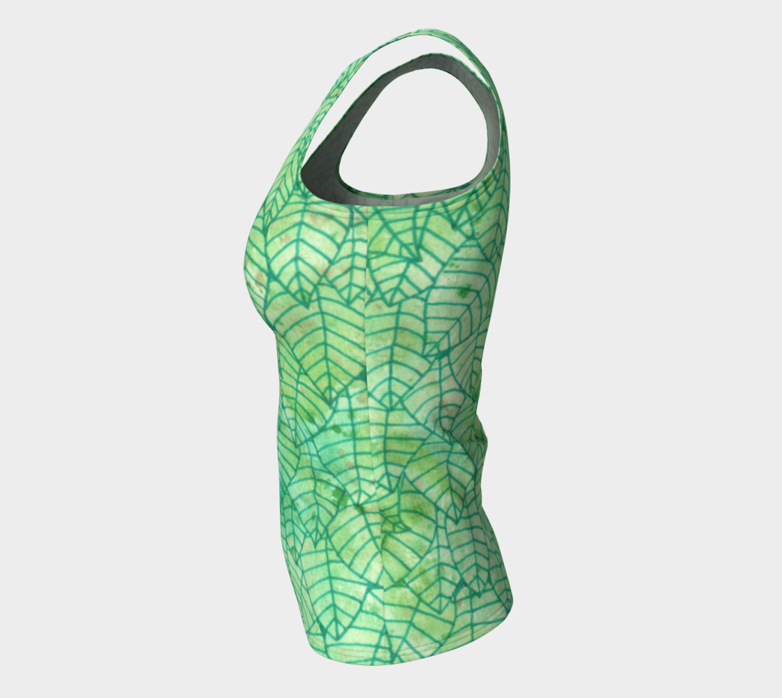 Green foliage Fitted Tank Top preview #7