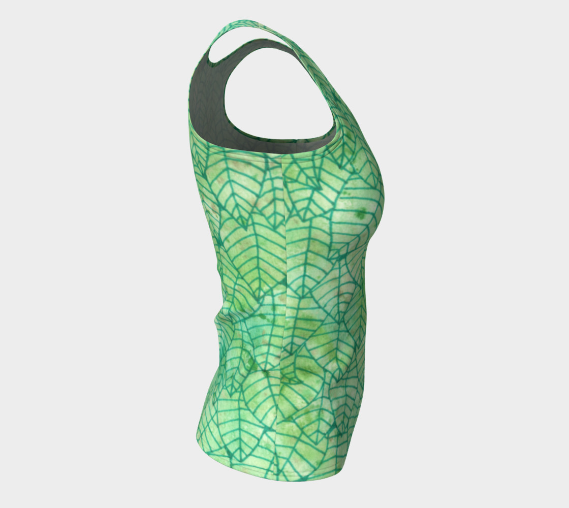 Green foliage Fitted Tank Top preview #8