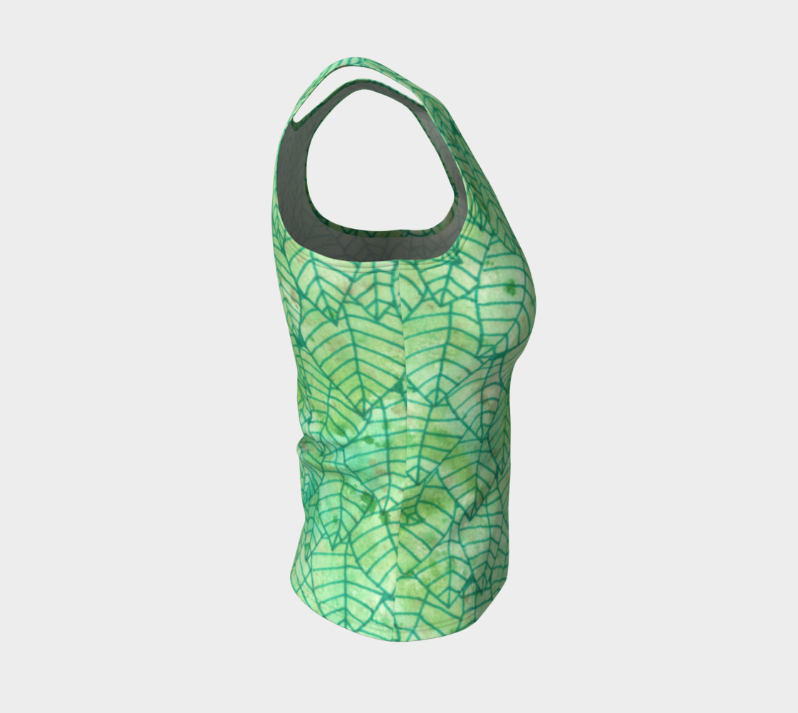 Green foliage Fitted Tank Top preview #4