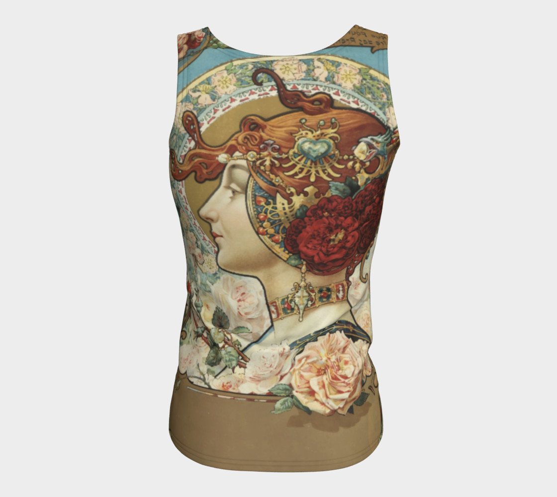 Aperçu de Charpentier-Deny Rose Lady Fitted Tank Top #6