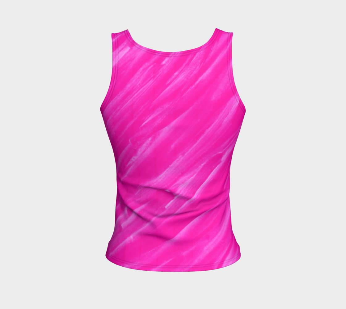 Hot Pink Happiness Fitted Tank Top preview #2