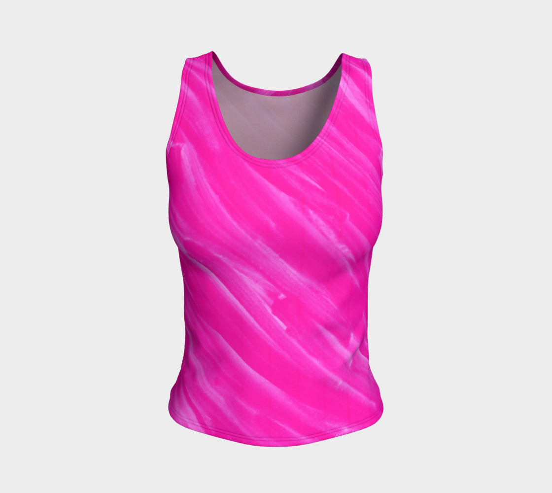 Hot Pink Happiness Fitted Tank Top preview #1