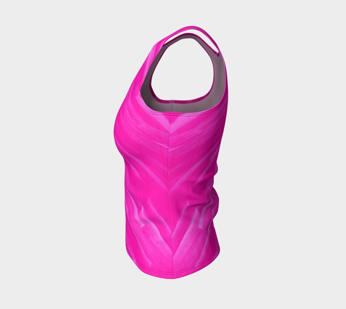 Hot Pink Happiness Fitted Tank Top preview #3